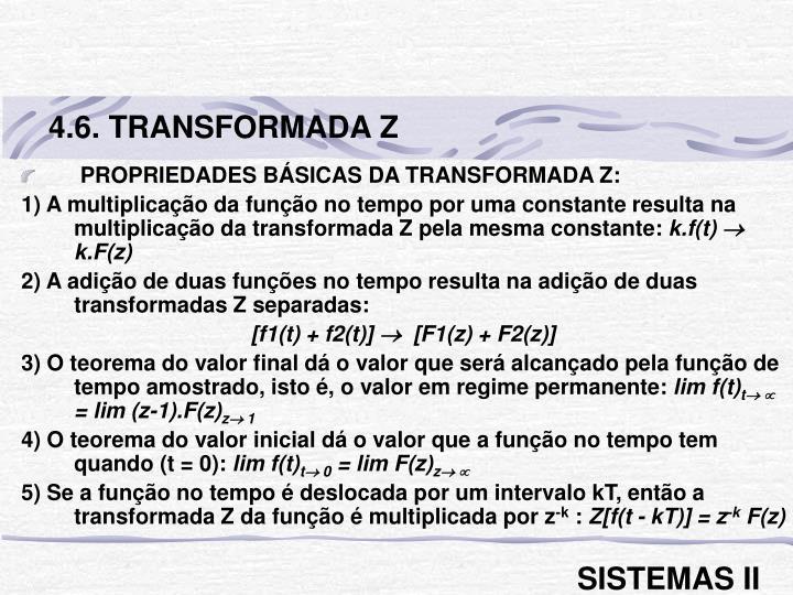 4.6. TRANSFORMADA Z