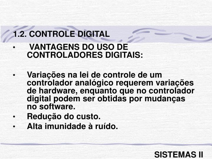 1.2. CONTROLE DIGITAL