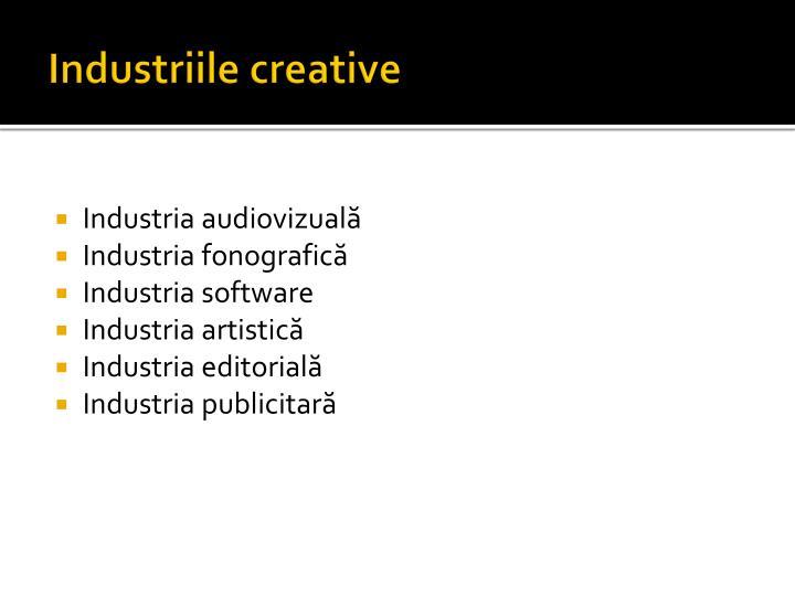 Industriile creative