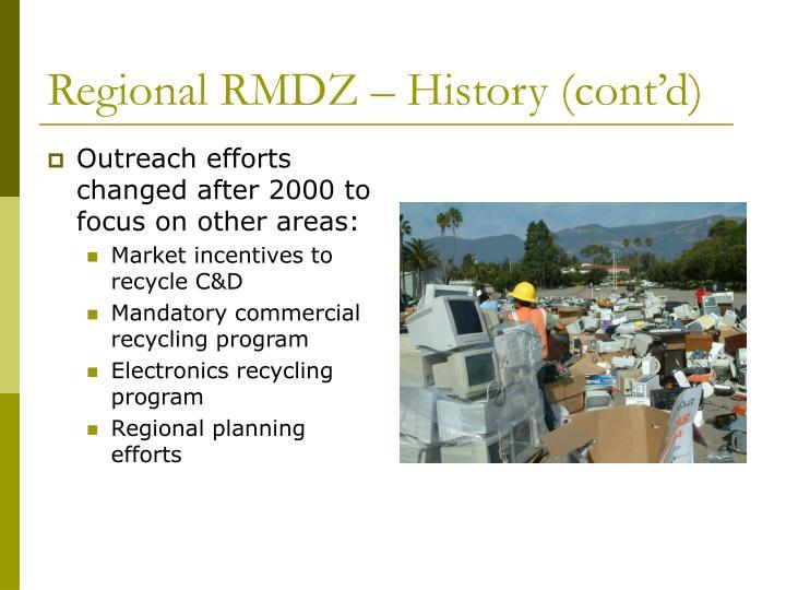 Regional RMDZ – History (cont'd)