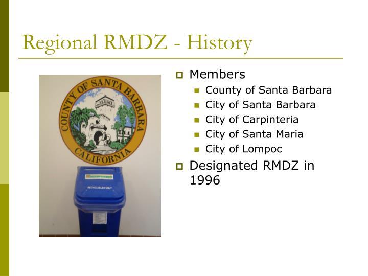 Regional rmdz history