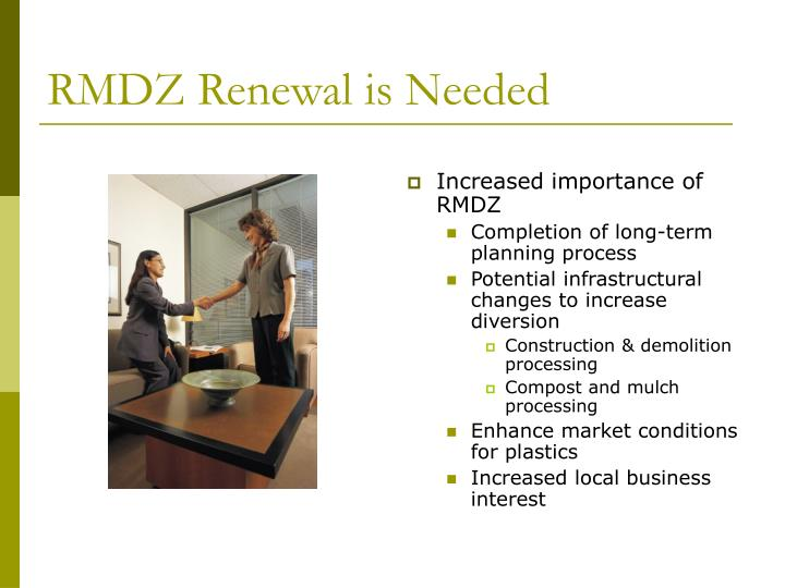 RMDZ Renewal is Needed