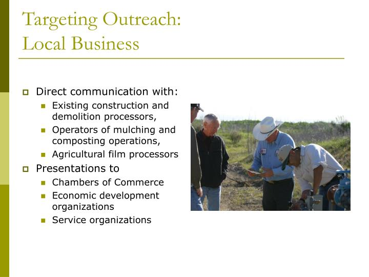 Targeting Outreach: