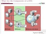 what are the components of a dns solution