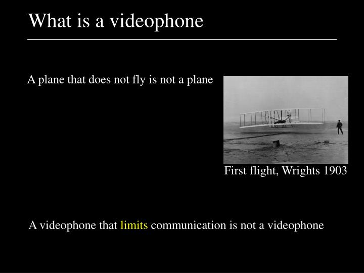 What is a videophone