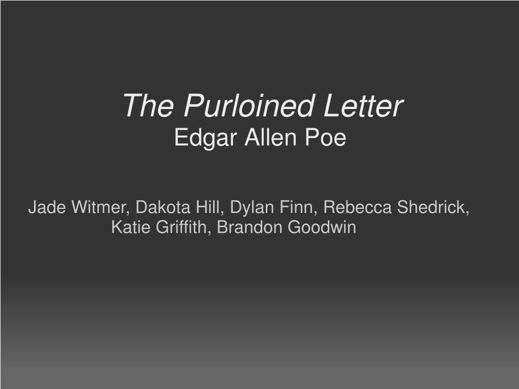 The Stolen Letter Characters
