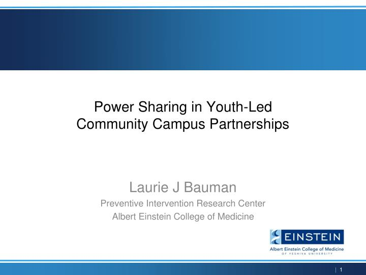 power sharing in youth led community campus partnerships n.