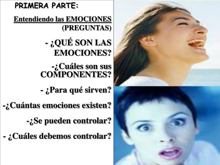 PRIMERA PARTE: