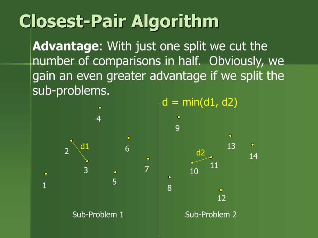 closest pair problem divide and conquer