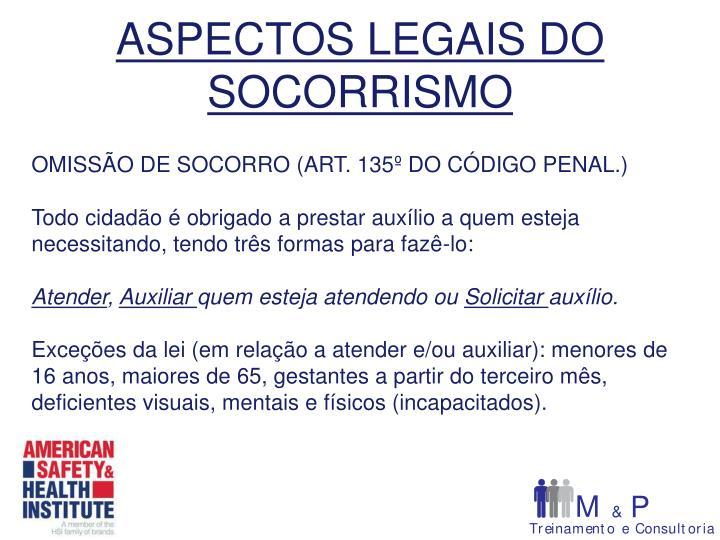 ASPECTOS LEGAIS DO SOCORRISMO