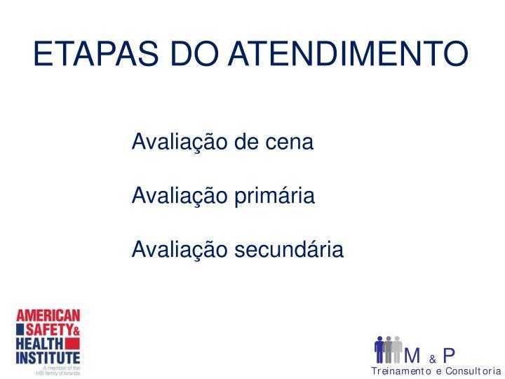 ETAPAS DO ATENDIMENTO