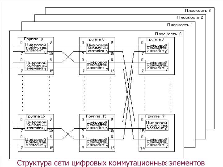 Структура сети цифровых коммутационных элементов