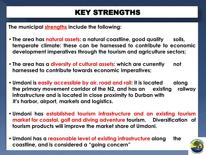 3 key strengths