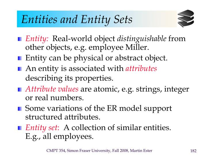Entities and Entity Sets