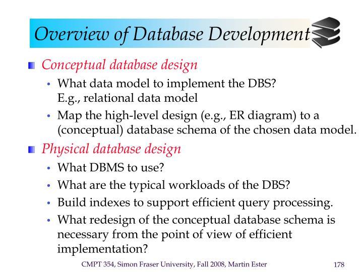 Overview of database development1