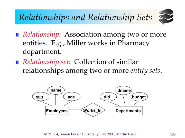 Relationships and Relationship Sets