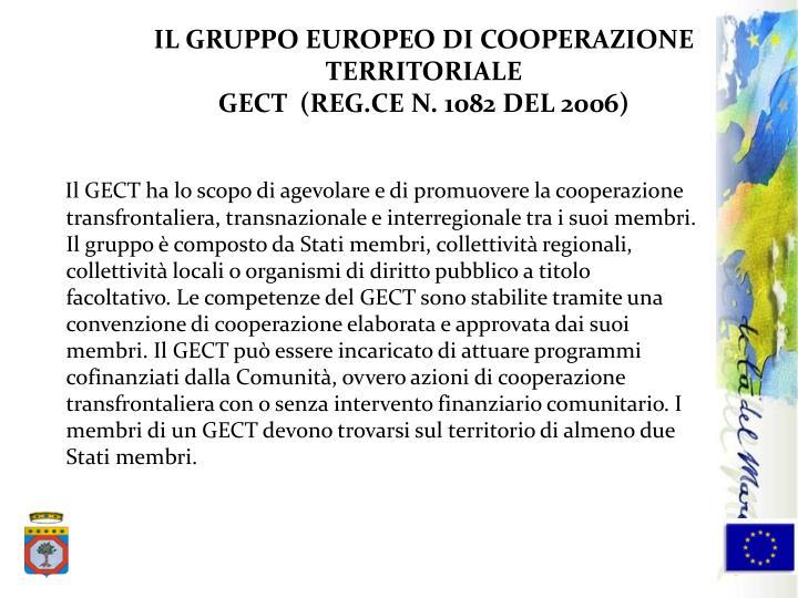 IL GRUPPO EUROPEO DI COOPERAZIONE TERRITORIALE
