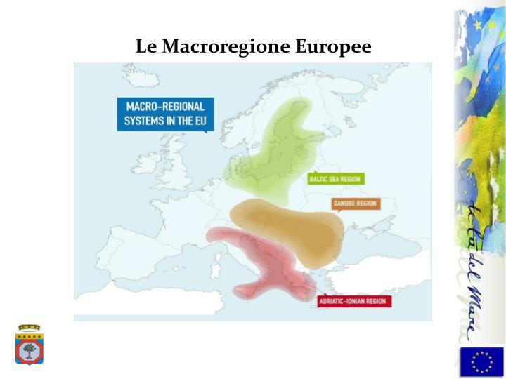 Le Macroregione Europee