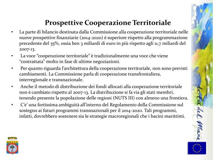 Prospettive Cooperazione Territoriale