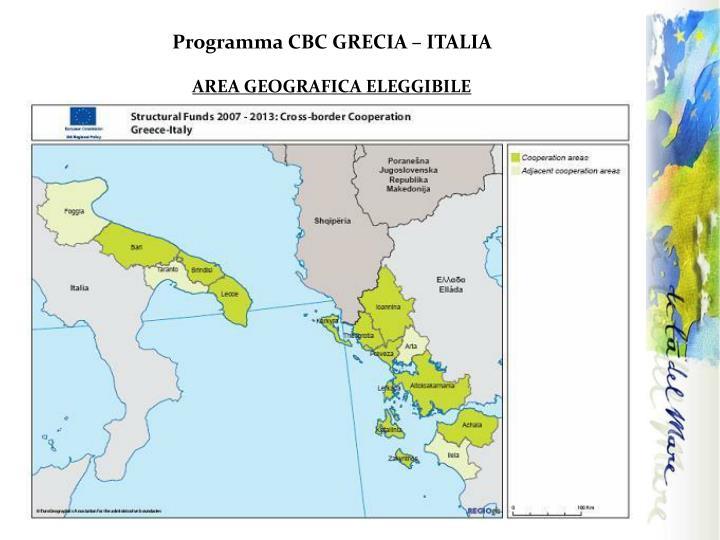 Programma CBC GRECIA – ITALIA