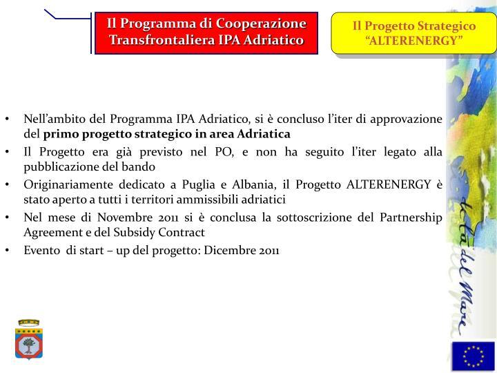 Il Programma di Cooperazione Transfrontaliera IPA Adriatico