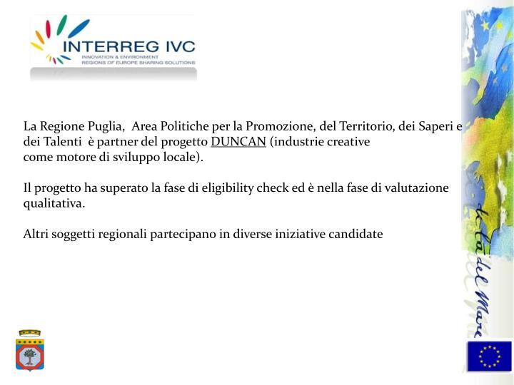 La Regione Puglia,