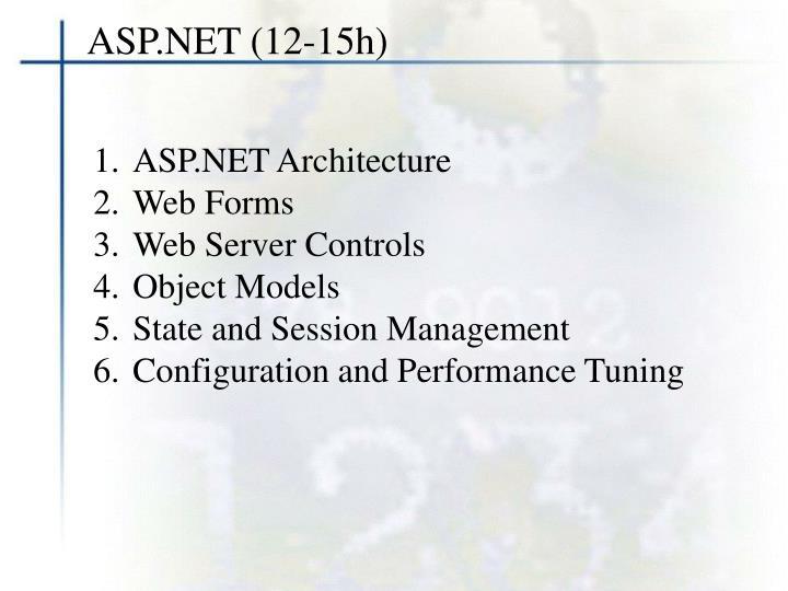 ASP.NET (12-15h)