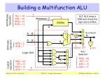 building a multifunction alu