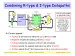 combining r type i type datapaths