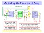 controlling the execution of jump