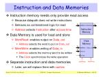 instruction and data memories