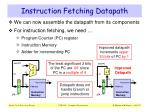 instruction fetching datapath