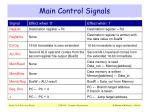 main control signals