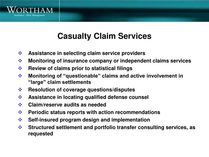 Casualty Claim Services