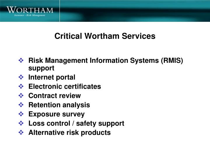 Critical Wortham Services