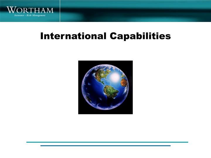 International Capabilities