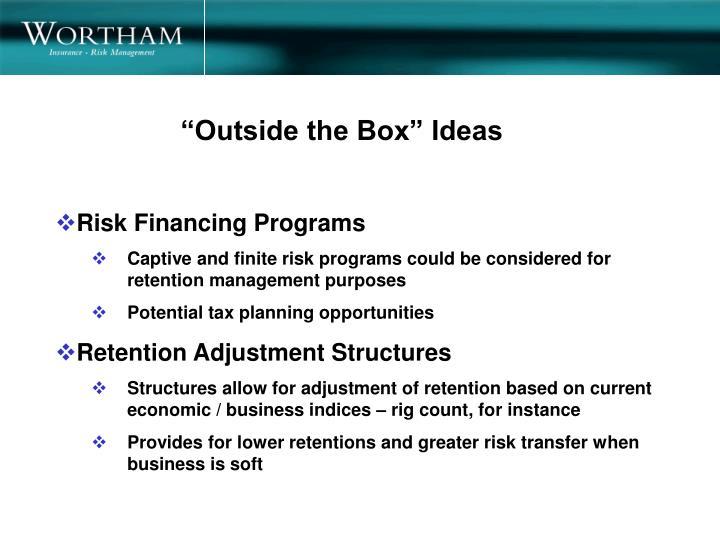 """""""Outside the Box"""" Ideas"""