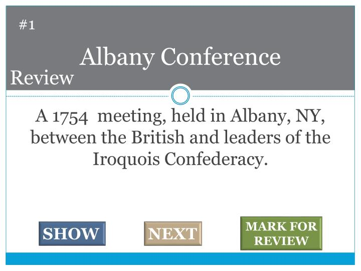 Albany conference