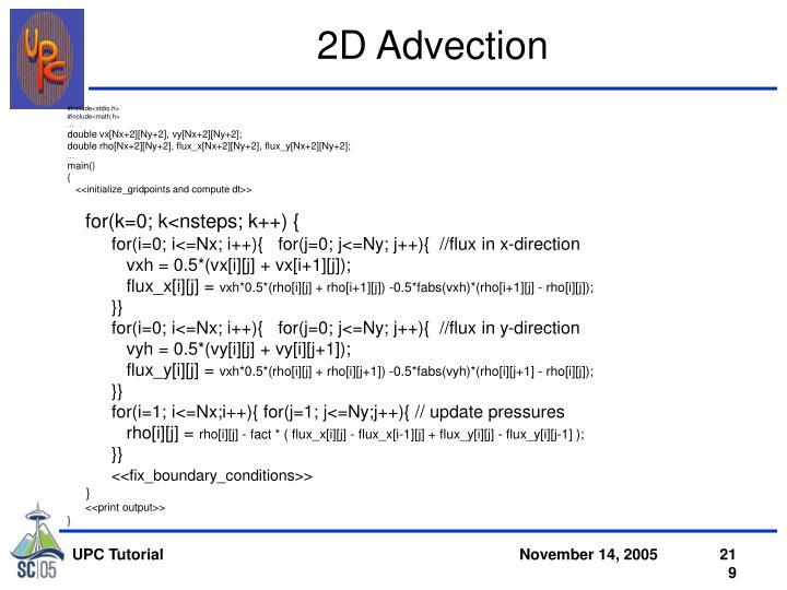 2D Advection