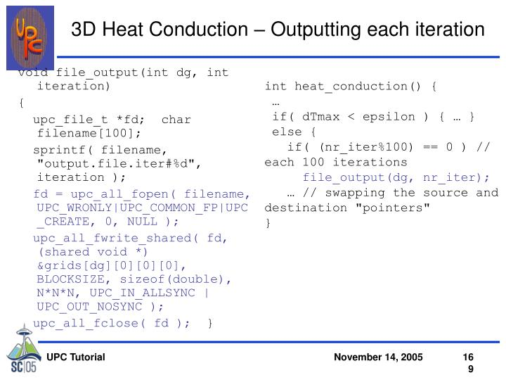 3D Heat Conduction – Outputting each iteration