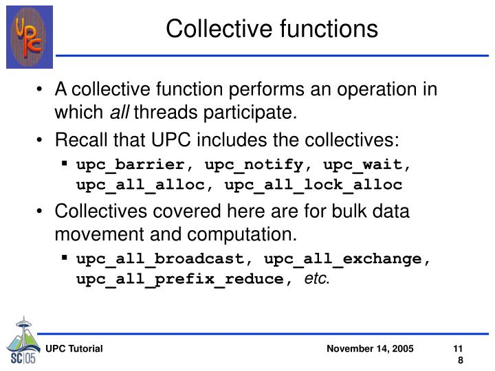 Collective functions