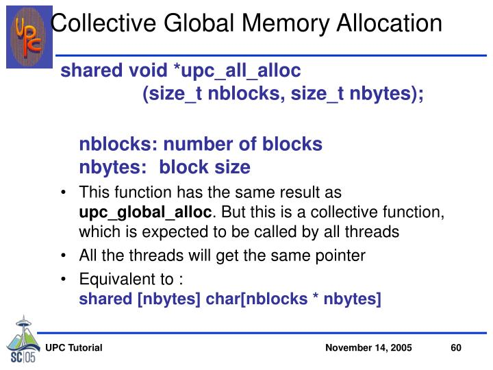 Collective Global Memory Allocation