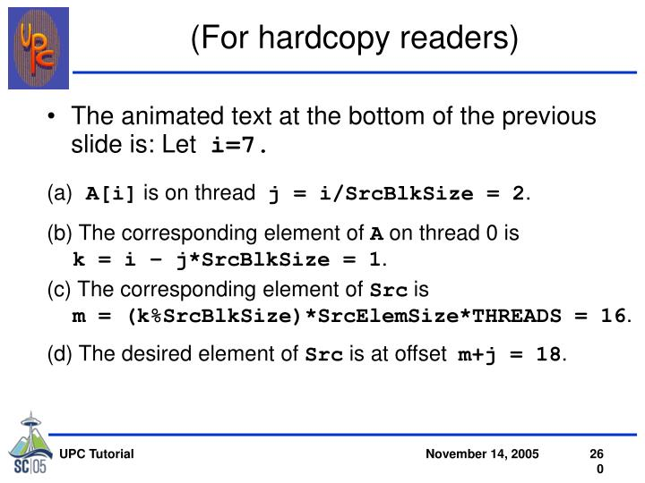 (For hardcopy readers)