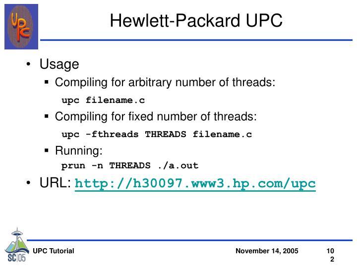 Hewlett-Packard UPC