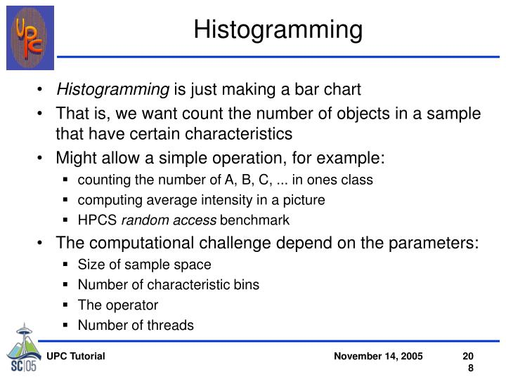 Histogramming
