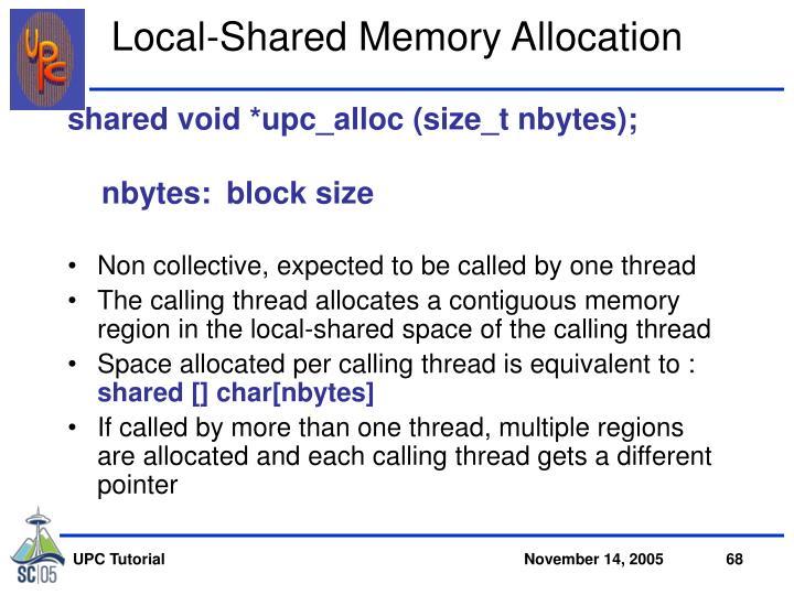 Local-Shared Memory Allocation