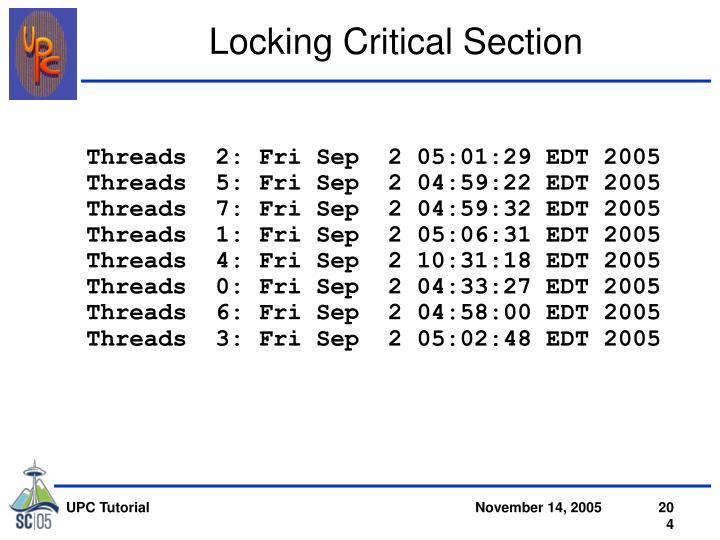 Threads  2: Fri Sep  2 05:01:29 EDT 2005