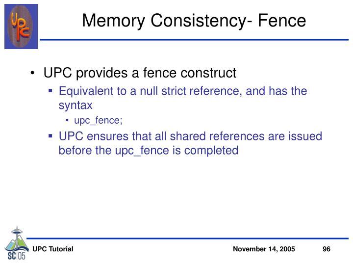 Memory Consistency- Fence
