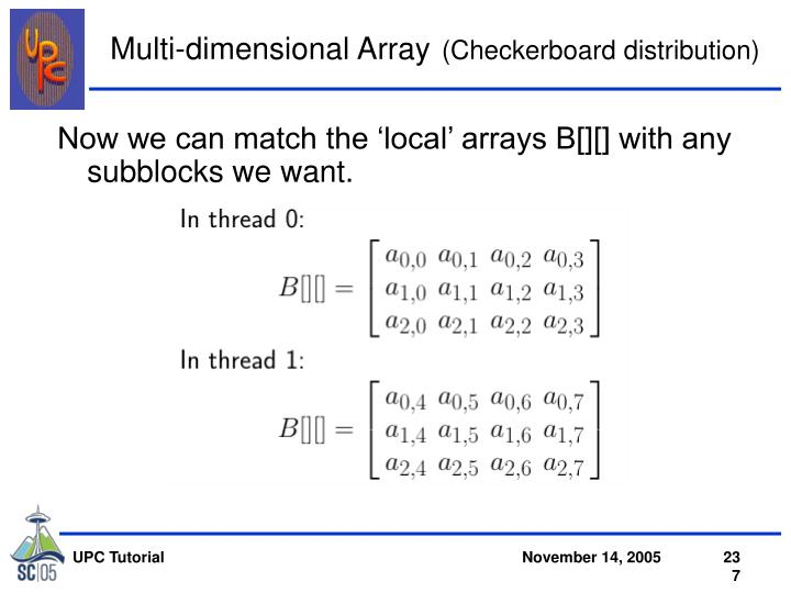 Multi-dimensional Array