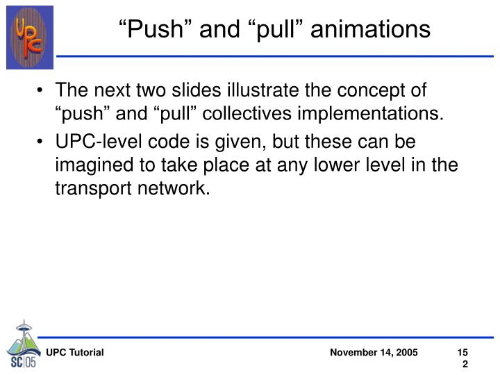 """""""Push"""" and """"pull"""" animations"""
